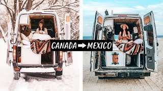 ESCAPING WINTER w/ VAN LIFE IN MEXICO
