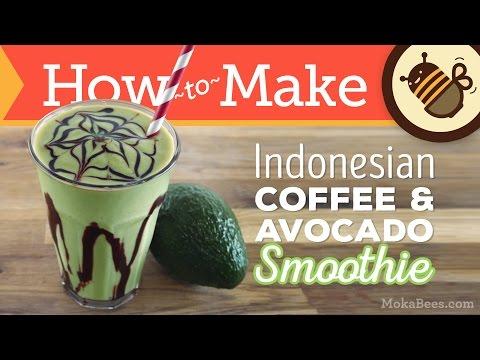Indonesian Coffee Avocado Smoothie Es Alpukat Recipe