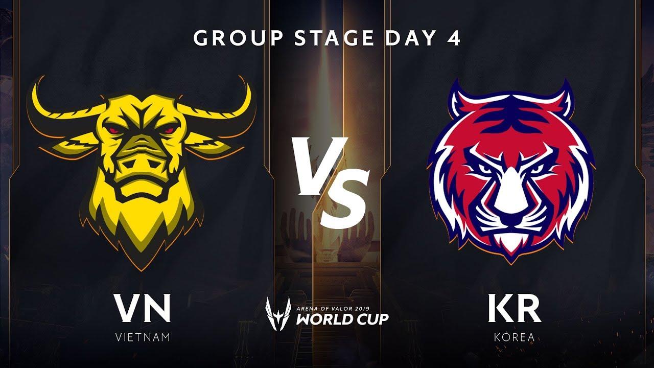 Việt Nam vs Hàn Quốc - Bảng B - Vòng bảng giải đấu AWC 2019 - Garena Liên Quân Mobile