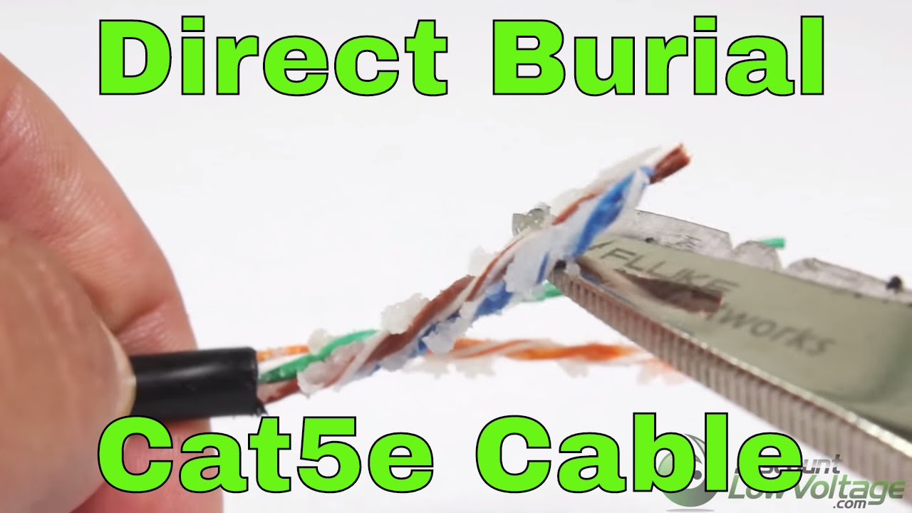 Direct Burial Underground Cat5e Wire And Cable