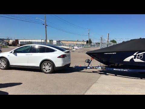 Tesla x towing