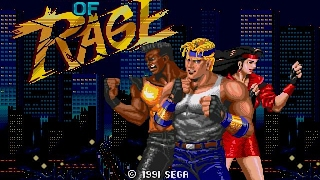 Streets of Rage gameplay (PC Game, 1991)