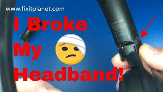 Sony MDR 1000X Headband Repair From Start To Finish. Quick and Easy!