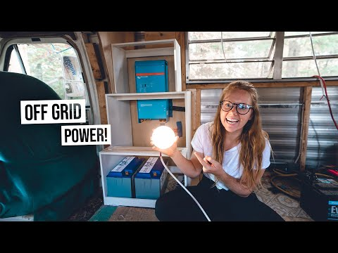 Starting Our Custom Built OFF-GRID Electrical System! - RV Renovation (Ep. 12)
