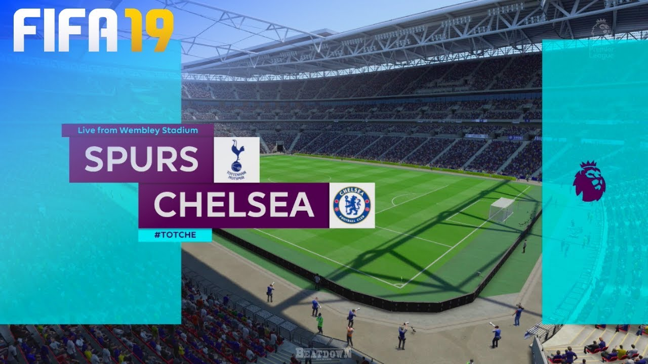 Fifa 19 Tottenham Hotspur Vs Chelsea Wembley Stadium Youtube