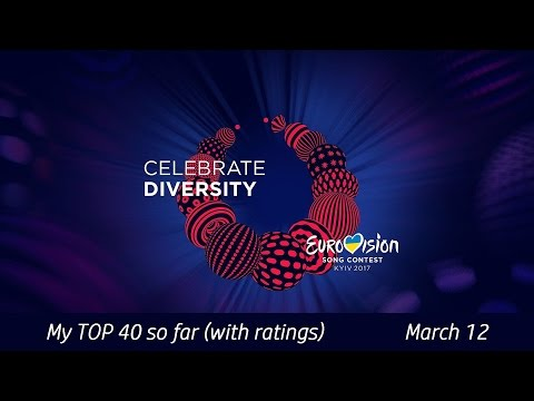 Eurovision 2017 | My TOP 40 so far with ratings | March 12