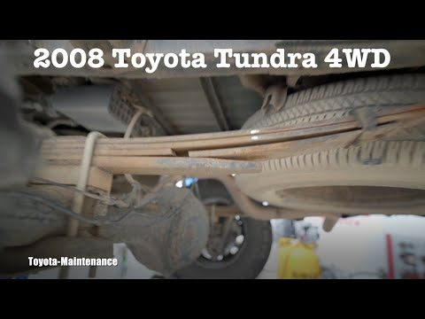 Toyota Tundra broken leaf spring replacement