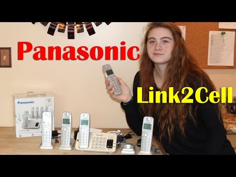 PANASONIC LINK2CELL 📞BLUETOOTH CORDLESS KX-TGE475S PHONE REVIEW 👈