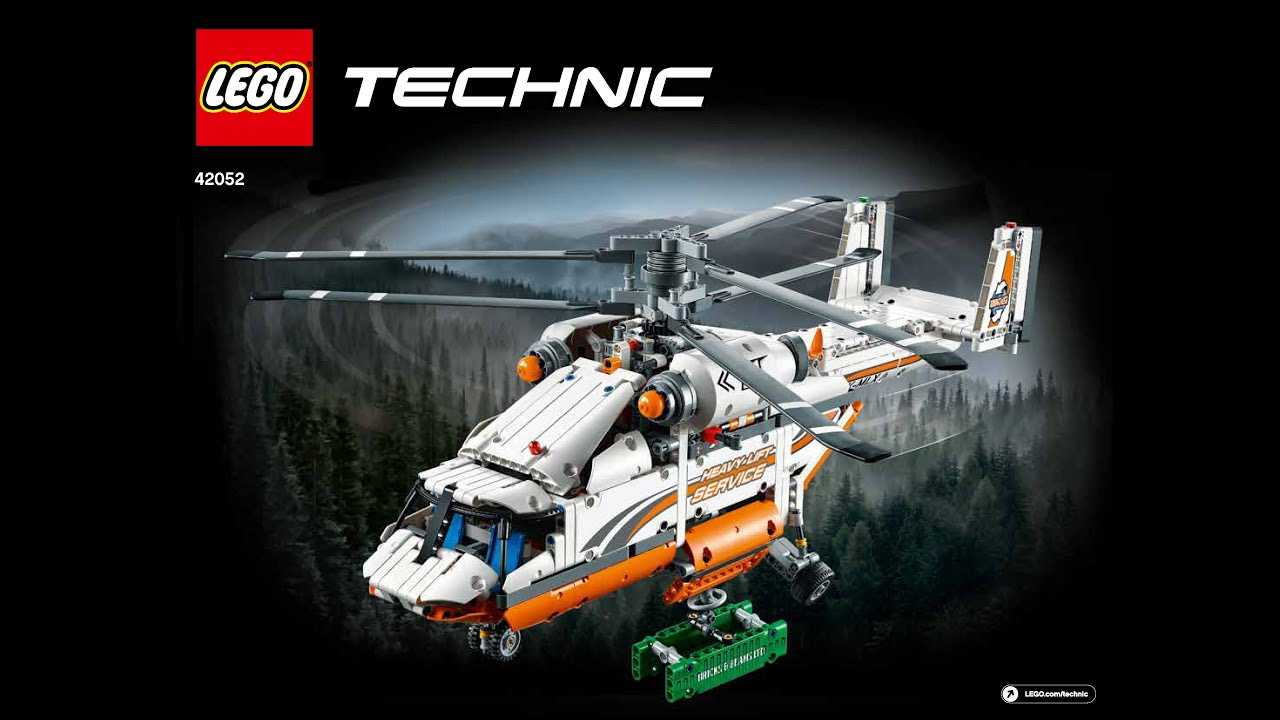 lego technic 2016 42052 heavy lift helicopter youtube. Black Bedroom Furniture Sets. Home Design Ideas