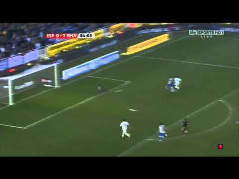 Adebayor unbelievable misses at match Espanyol 0-1 Real Madrid 13/2/2011