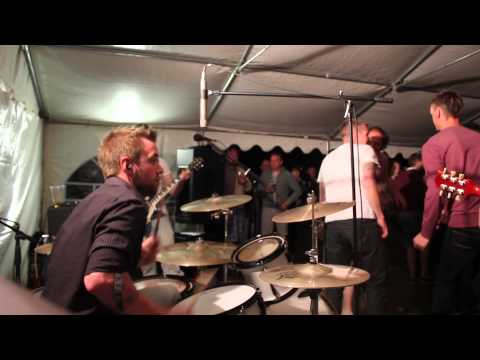 Adam Playing Drums to Cigarettes and Alcohol at Sonnys Beer Festival, Hardington 2013