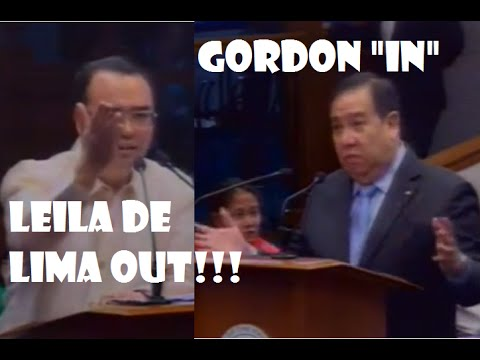 "September 19, 2016 Confirmed! Leila De Lima ""Out"" Dick Gordon ""In"" as Chair In Committee On Justice"