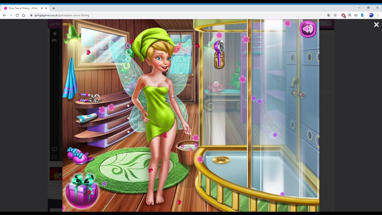 Tinkerbell - Sauna Flirting. Is this game for children