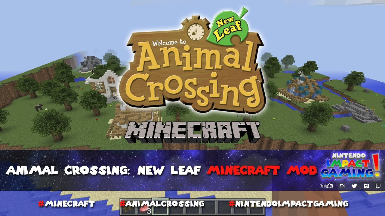 Animal crossing new leaf minecraft map youtube for Agrandissement maison animal crossing new leaf