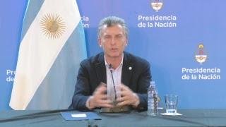 Conferencia de prensa del presidente Mauricio Macri en Cachi