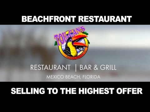 Beach Front Restaurant Toucans Bar and Grill in Mexico Beach, FL Selling to Highest Bidder