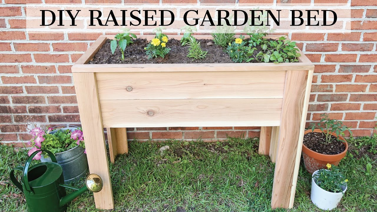 How To Build A Raised Garden Bed With Legs Angela Marie Made