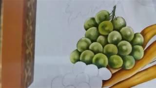 Uvas verdes – Pintura em tecido Ana Ferrante