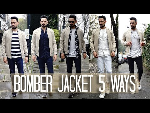 How to Wear a Bomber Jacket 5 ways   Men's Style & Fashion Lookbook