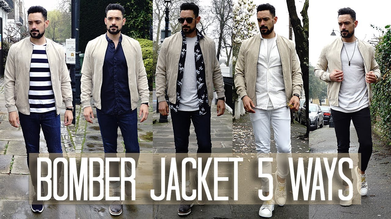 How To Wear A Bomber Jacket 5 Ways Men S Style Fashion Lookbook