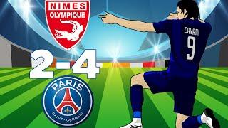 Nîmes Vs PSG (2-4) Kylian Mbappé Carton Rouge Résumé Ligue 1 Conforama 1/09/2018