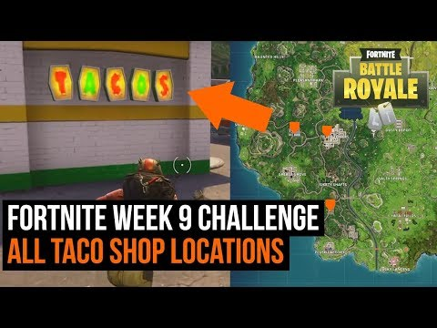 All 5 Taco shop locations in Fortnite - Season 3 challenge