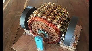 how to make a powerful dc motor using 120 screws science school project 2017
