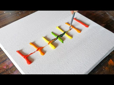DIY / Easy Abstract Landscape Painting Demo / For beginners / Relaxing/Daily Art Therapy / Day #0187