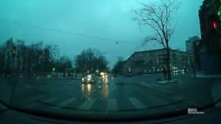 Утреннее ДТП 23/01/17 на перекрёстке ул.Бабушкина и Фарфоровской