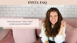 Hoe kan je een ''lees meer'' onder je post hebben op Instagram?