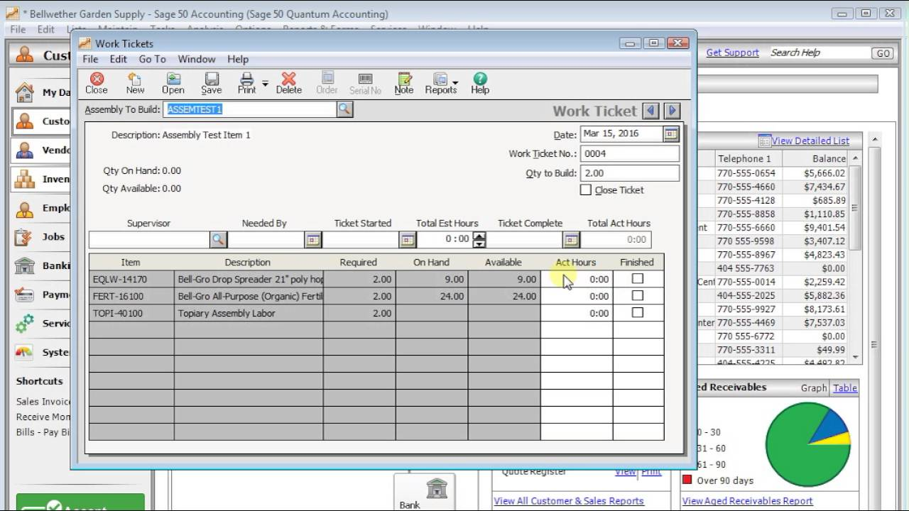 Using Assembly Items in Sage 50's Inventory - IQ Accounting