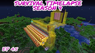PIGLIN BARTERING and New Storage System | Minecraft Survival Timelapse Season 4 Episode 45