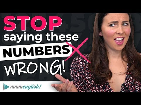 STOP saying numbers wrong! ? English Pronunciation Lesson