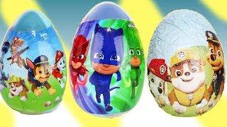 Opening Paw Patrol & Pj Masks Easter Egg Surprises