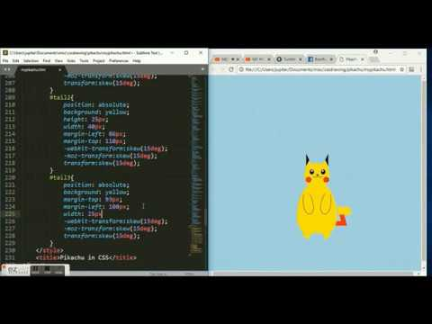 Drawing ⚡️pikachu⚡️ Using CSS - Speed Coding #1