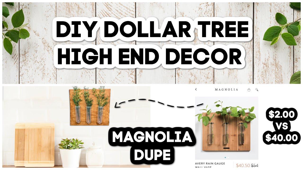 DIY Dollar Tree High-End Wall Vase Decor | Magnolia Dupe | Dollar Tree DIYs | Easy Dollar Tree DIYs