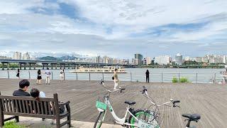 [4K] Saturday Afternoon Walking at Yeouido Hangang Park in Seoul Korea 토요일 오후 서울 여의도한강공원과 여의도 걷기