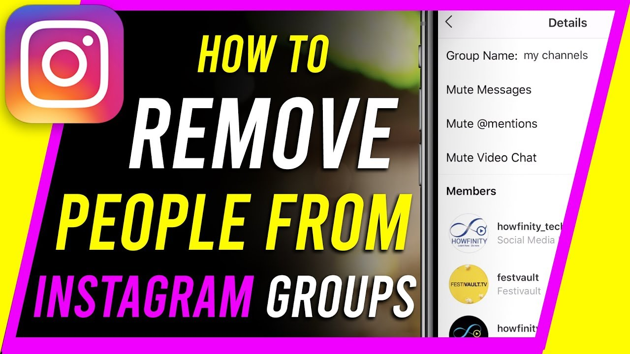 How to Add or Remove People From Instagram Groups