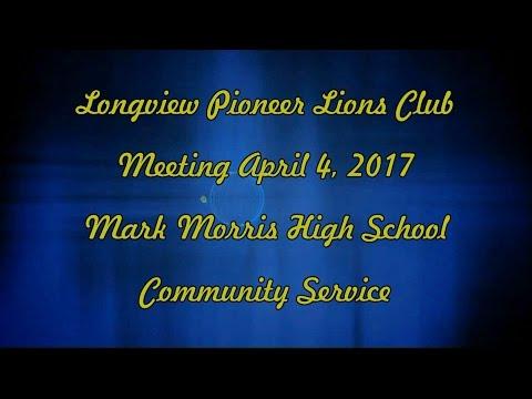 April 4 2017 Mark Morris High School -  Community Service