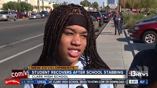 Students react to stabbing at Clark High School