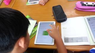 A memrise English class with tablets in South Korea
