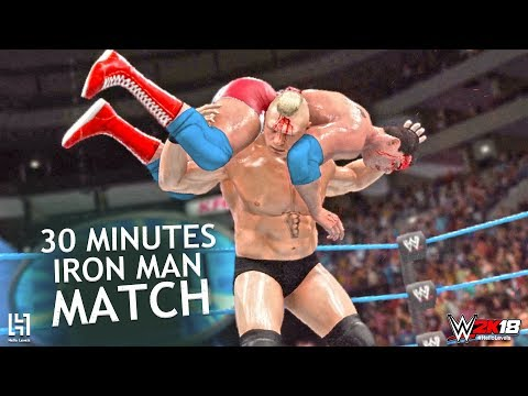 WWE 2K18 Brock Lesnar vs Kurt Angle Ironman Match | Brock Lesnar vs Kurt Angle 30 Minutes Iron Man