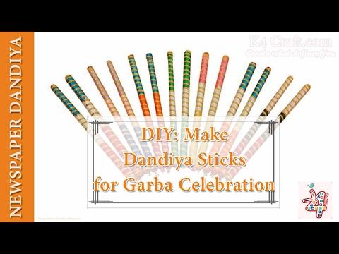 "DIY: Newspaper Eco Friendly ""DANDIYA"" Sticks for Navratri Celebration"