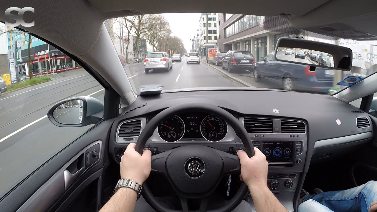 VW Golf 7 Variant 1.6 TDI BlueMotion (2016) - POV City Drive - YouTube