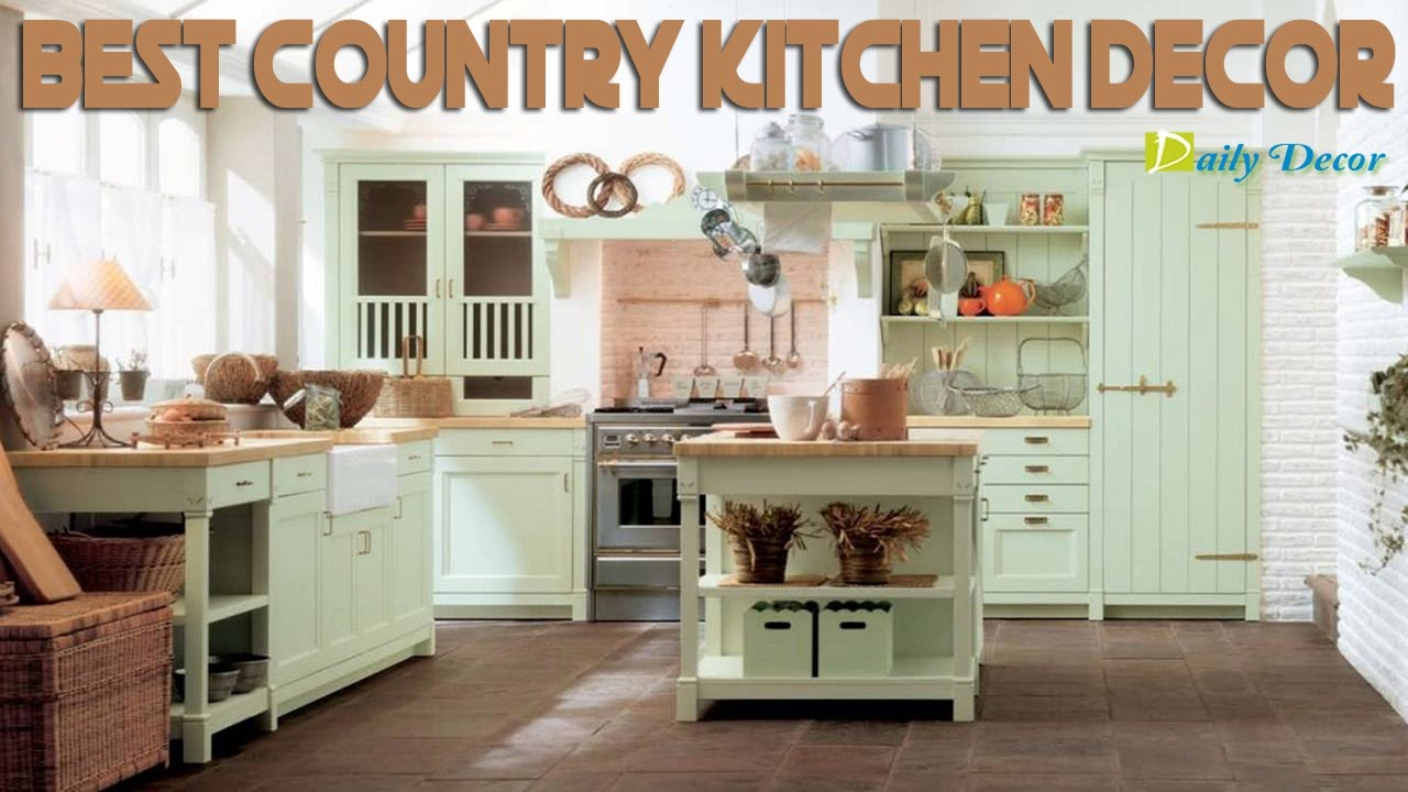 Daily Decor] Country Kitchen Decor - YouTube