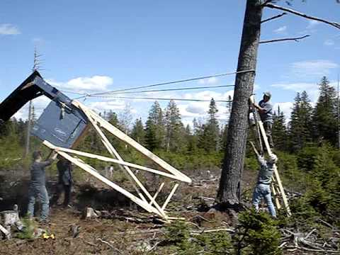 Montage de la cache 39 39 la timber 39 39 chasse 2010 youtube - Fabrication glue pour chasse ...