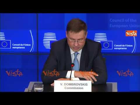 """Manovra, Dombrovskis: """"Pronti ad applicare le regole del patto"""""""