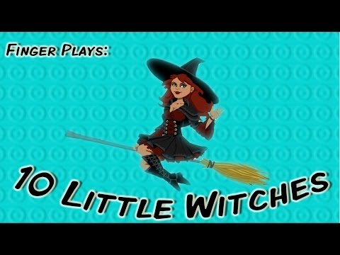 10 Little Witches | Halloween Counting Song For Children