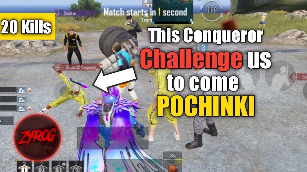 Download Conqueror Challenge us to come POCHINKI  • Zj111 • StarEsport • ZyroJayyy • PUBG • Pakistan 🇵🇰