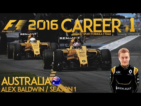F1 2016 Game Career Mode - Part 1 AUSTRALIAN GRAND PRIX (PS4 Gameplay)